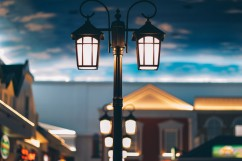 Unique Energy and Material Saving Streetlight